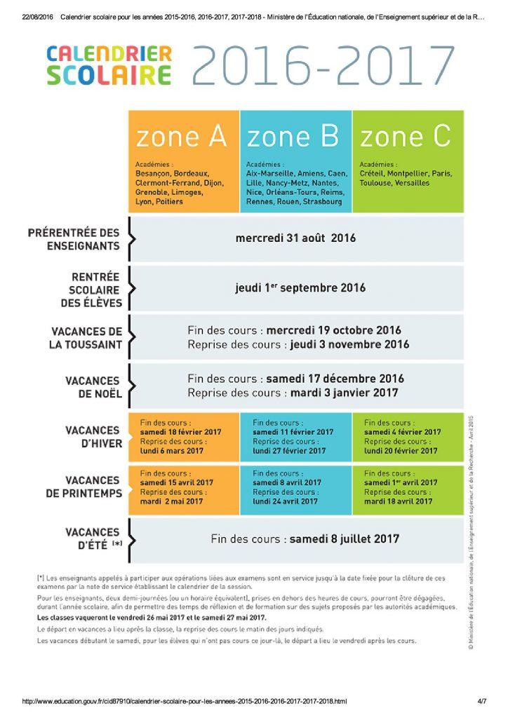Calendrier scolaire pour les années 201...eignement supérieur et de la Recherche